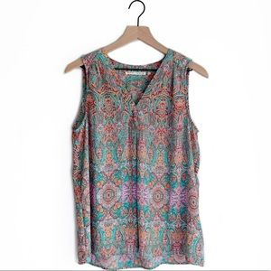 Violet + Claire • Large Multicolored Paisley Tank